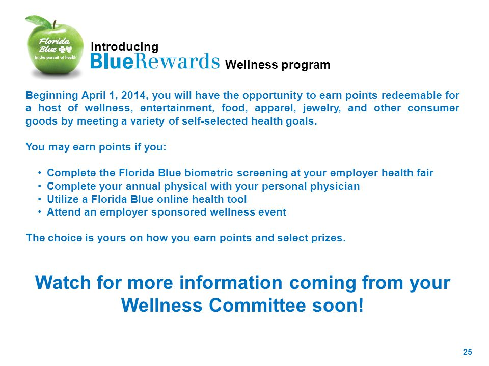 Watch for more information coming from your Wellness Committee soon!