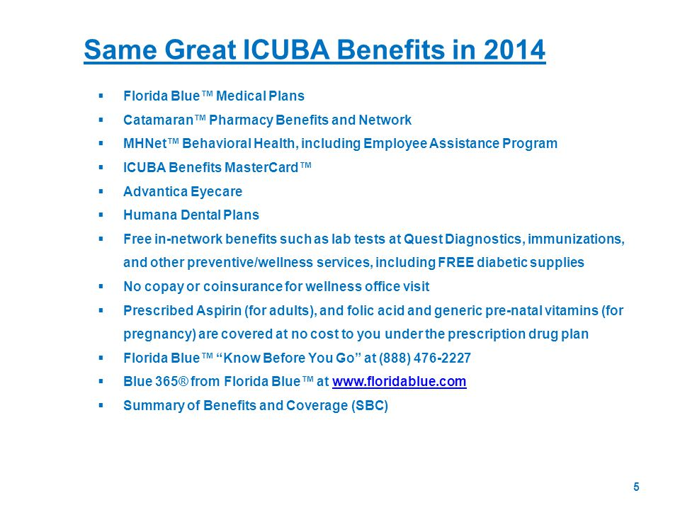 Same Great ICUBA Benefits in 2014