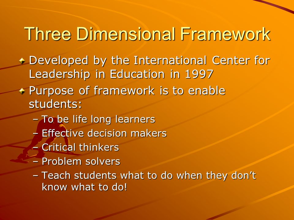 Three Dimensional Framework