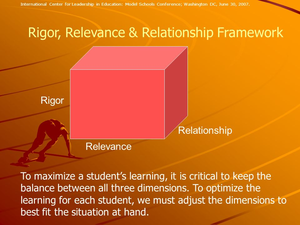 Rigor, Relevance & Relationship Framework