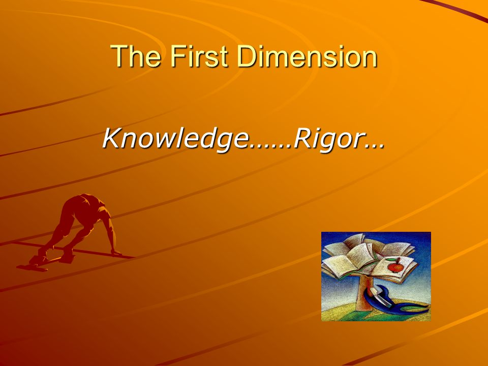 The First Dimension Knowledge……Rigor…