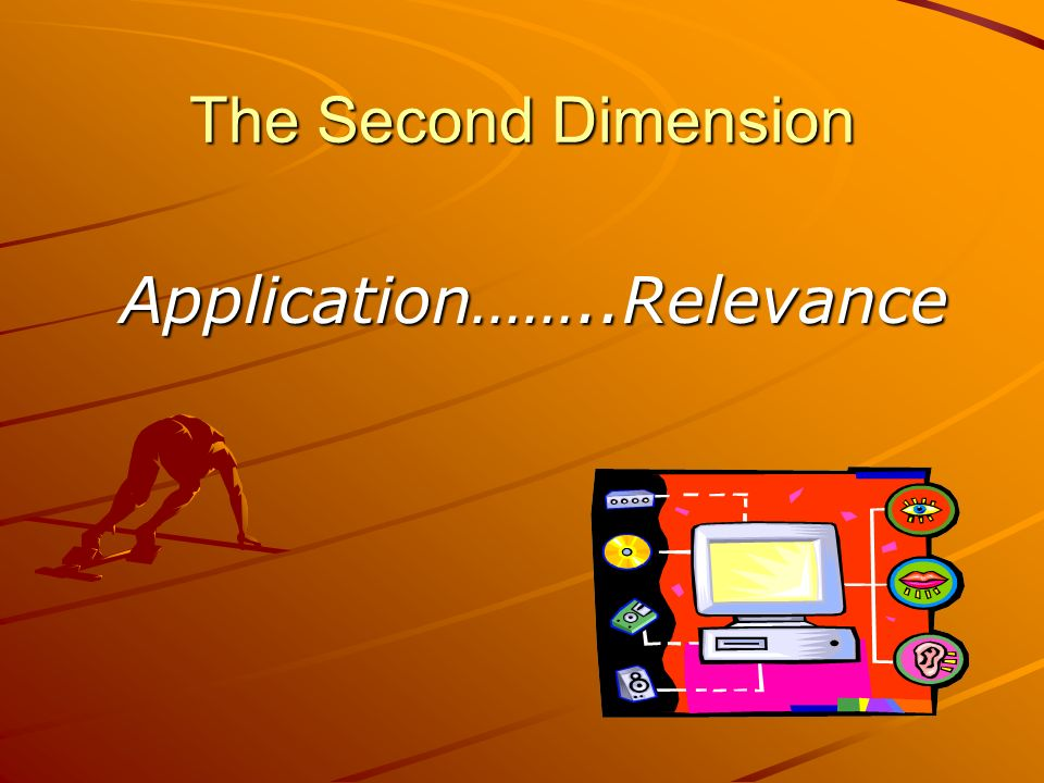 Application……..Relevance