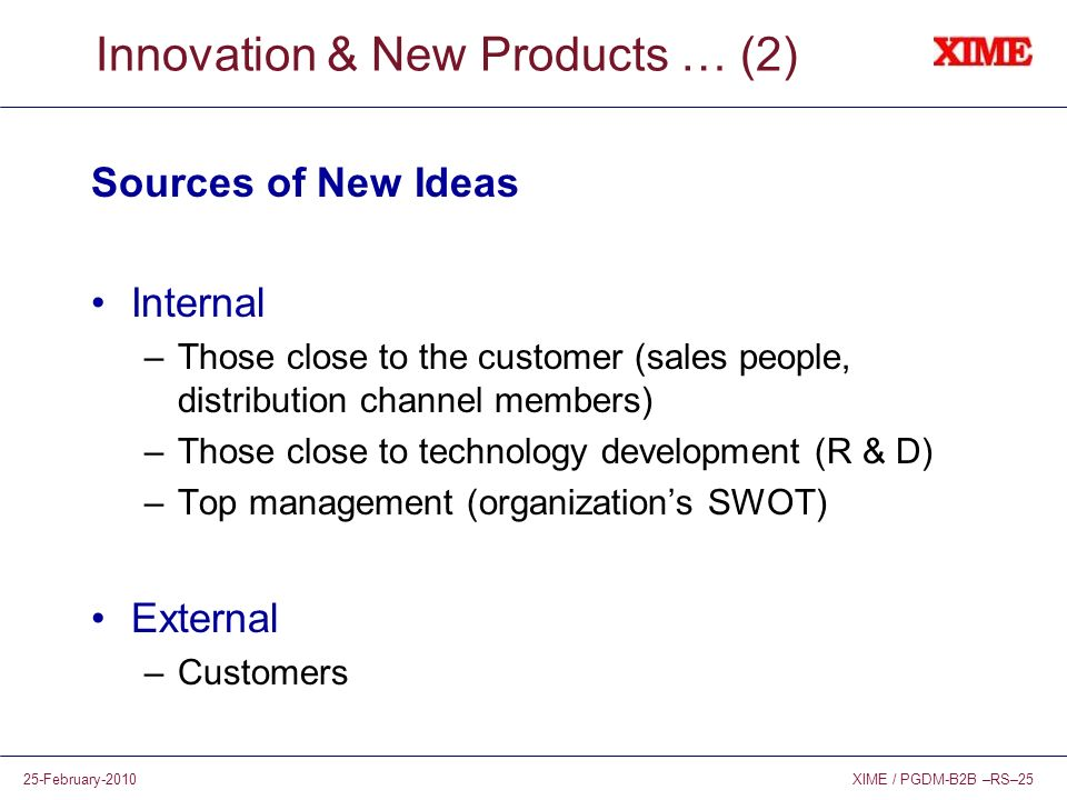 Innovation & New Products … (2)