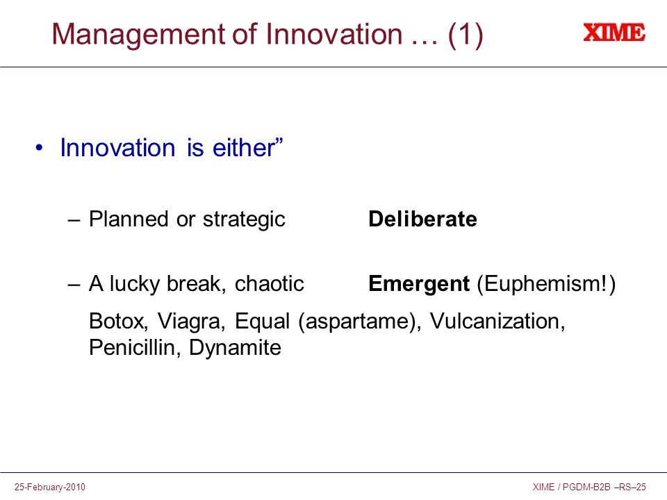 Management of Innovation … (1)