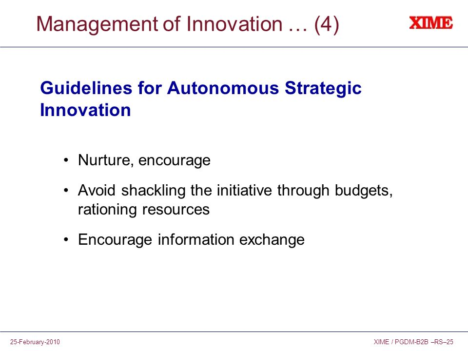 Management of Innovation … (4)