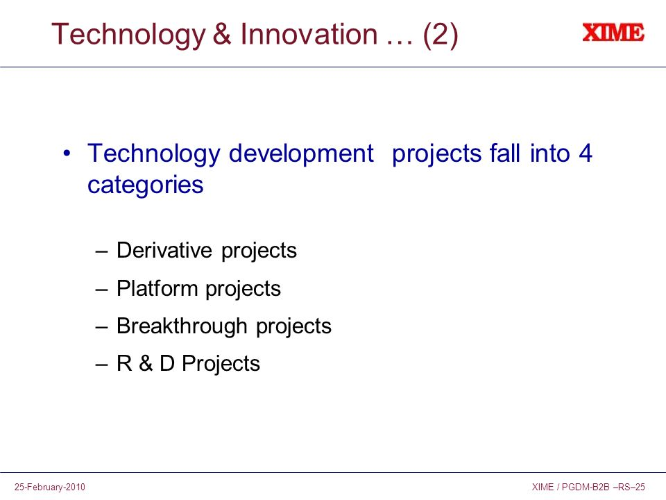 Technology & Innovation … (2)