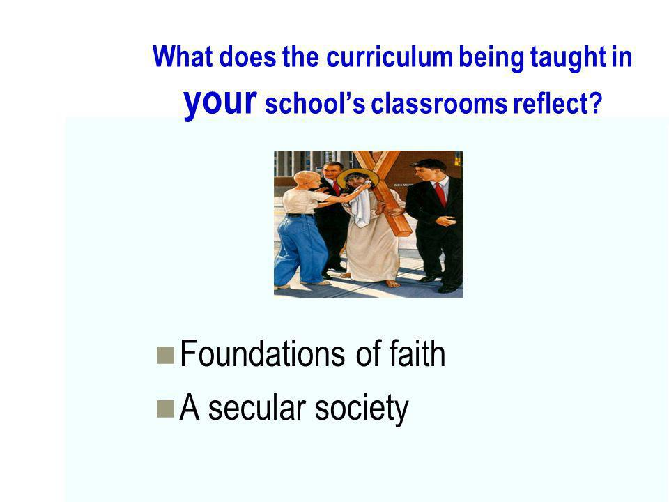 Foundations of faith A secular society