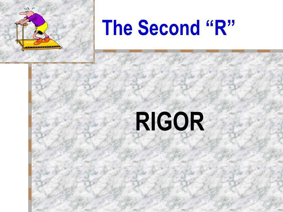 The Second R RIGOR