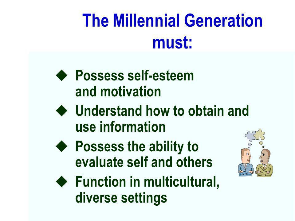 The Millennial Generation must: