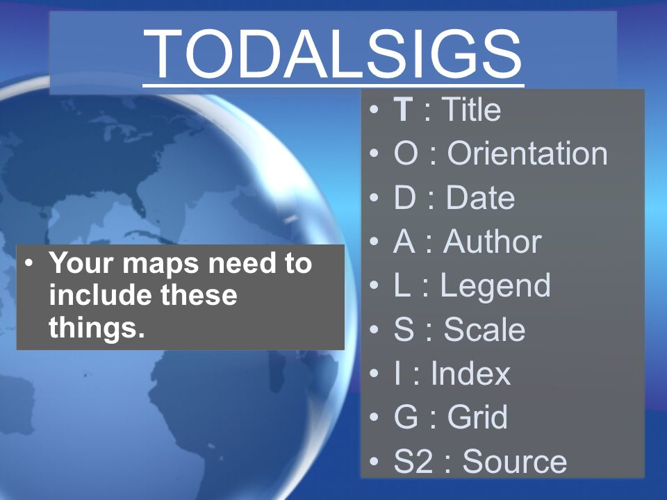 TODALSIGS T : Title O : Orientation D : Date A : Author L : Legend