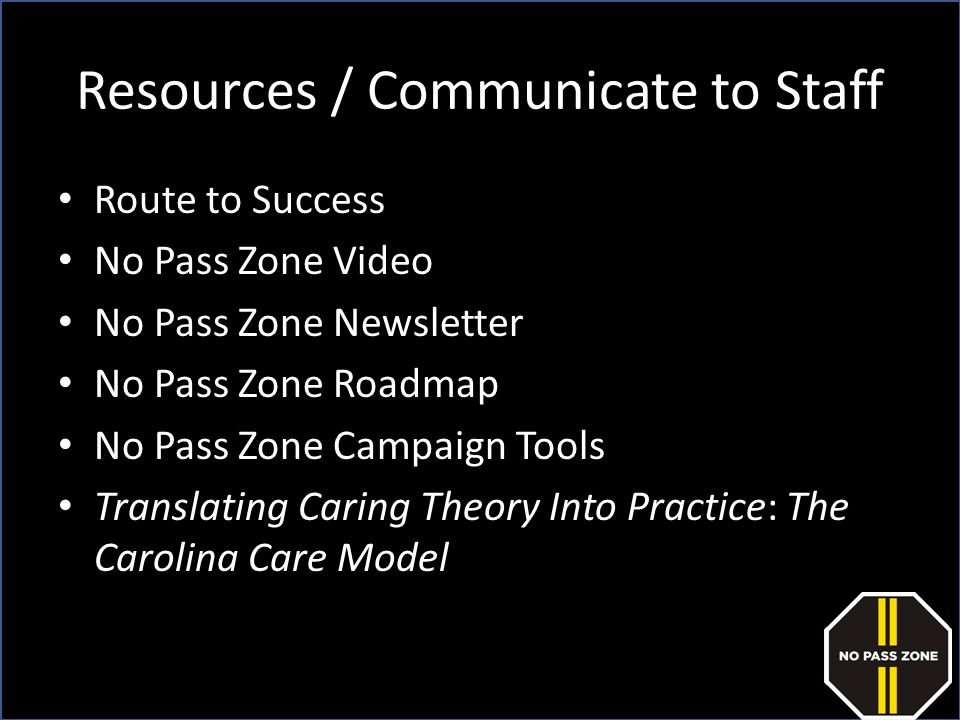 Resources / Communicate to Staff