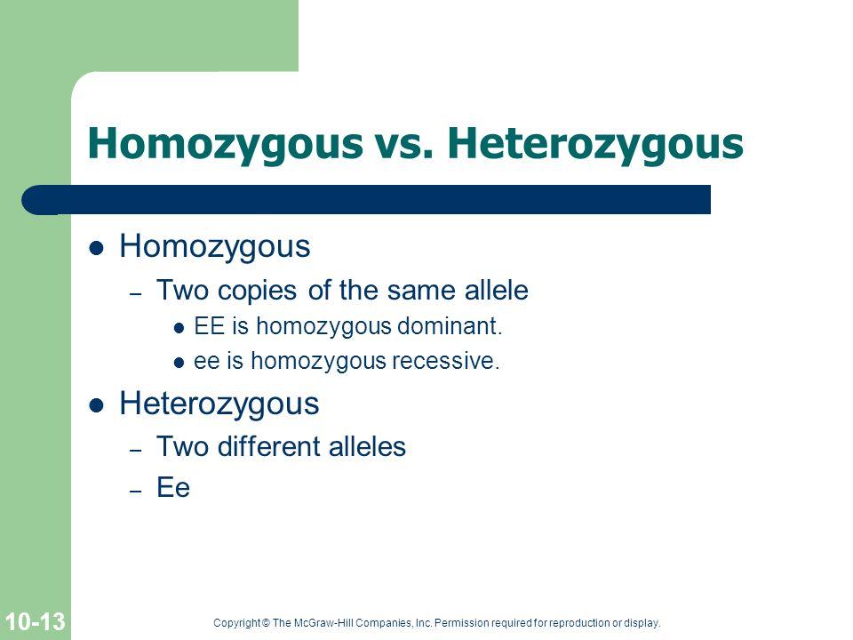 Homozygous vs. Heterozygous