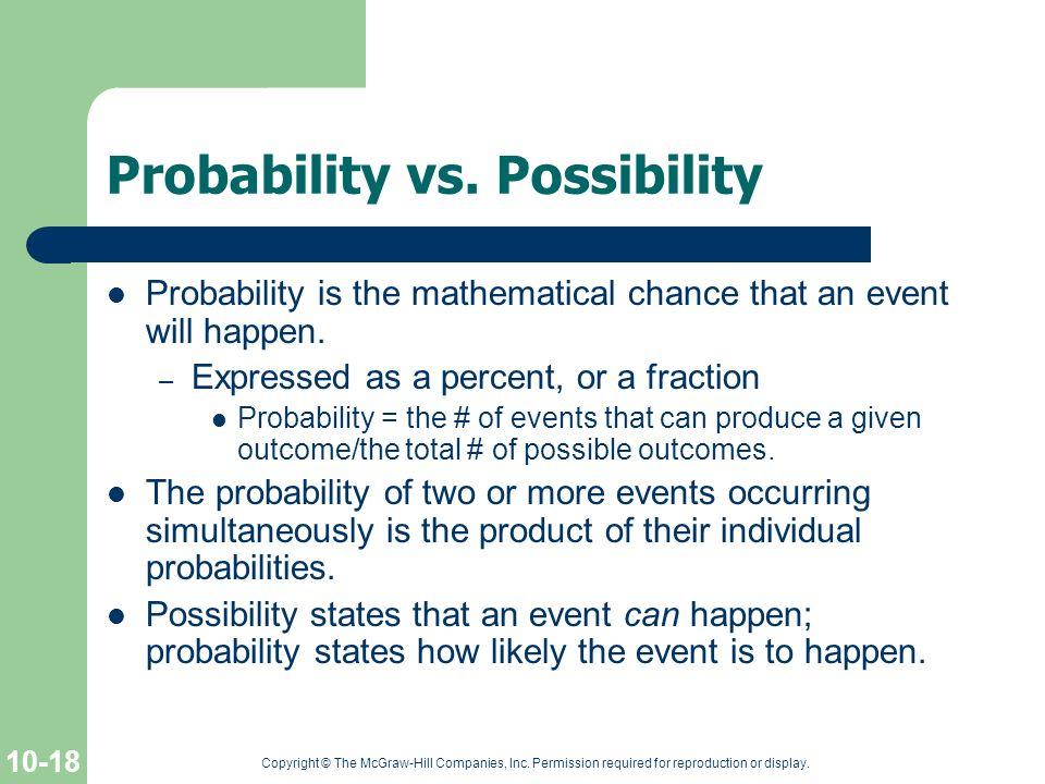 Probability vs. Possibility