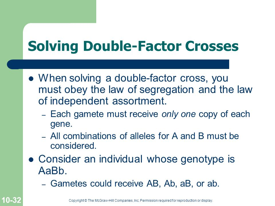 Solving Double-Factor Crosses