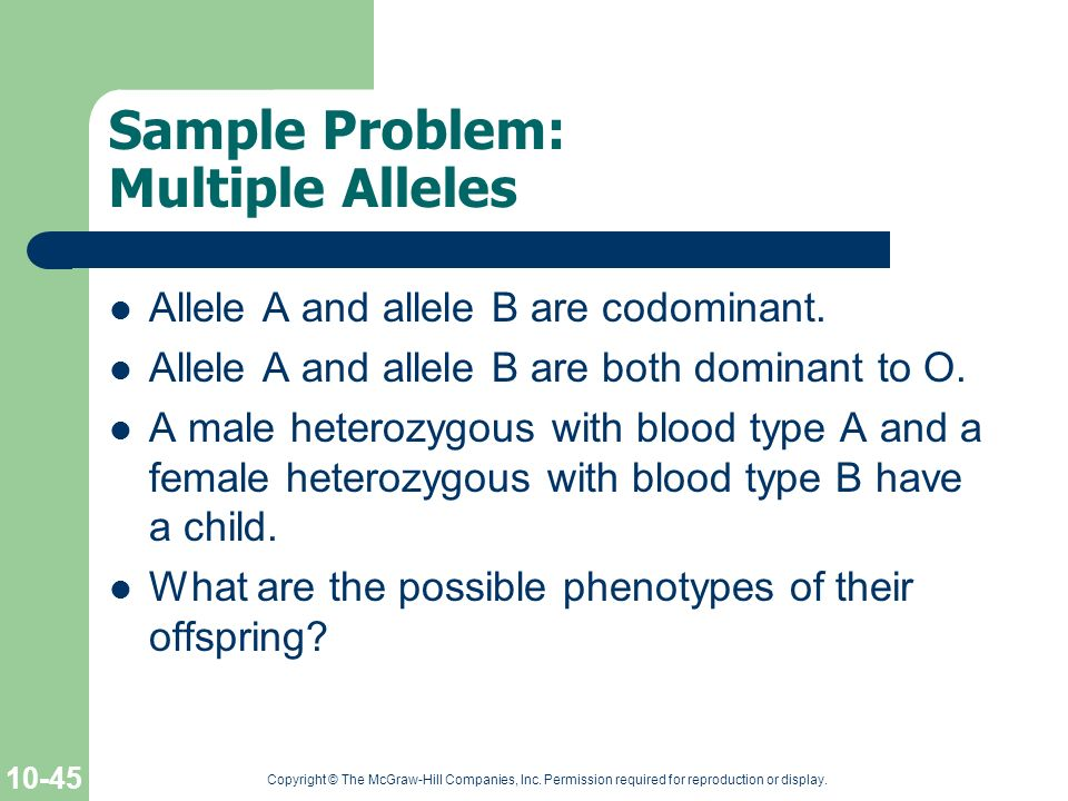 Sample Problem: Multiple Alleles