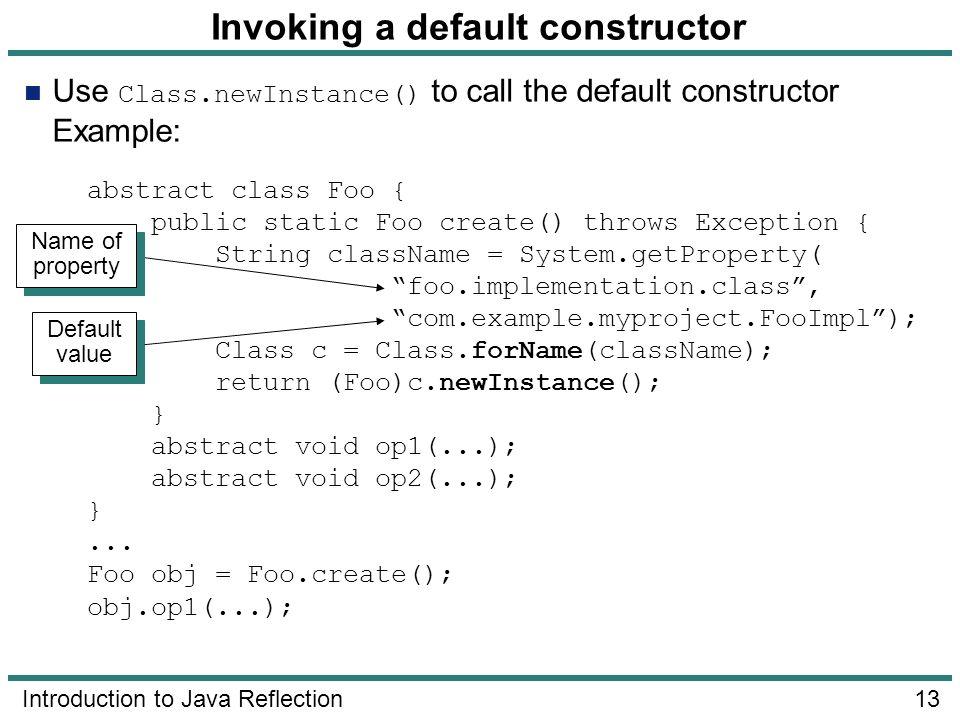 Invoking a default constructor