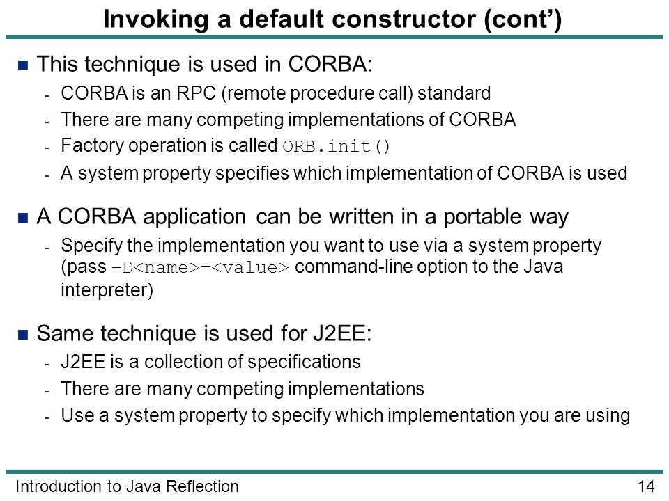 Invoking a default constructor (cont')