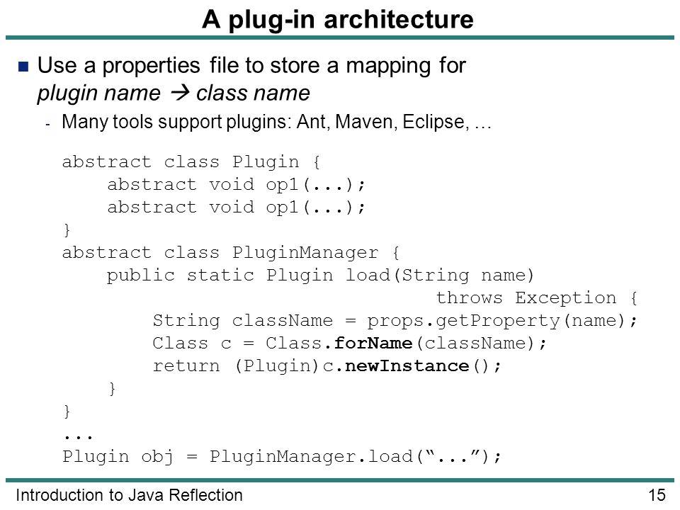 A plug-in architecture