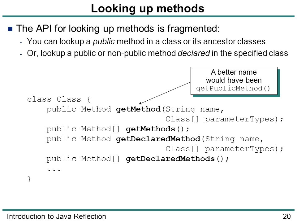 A better name would have been getPublicMethod()