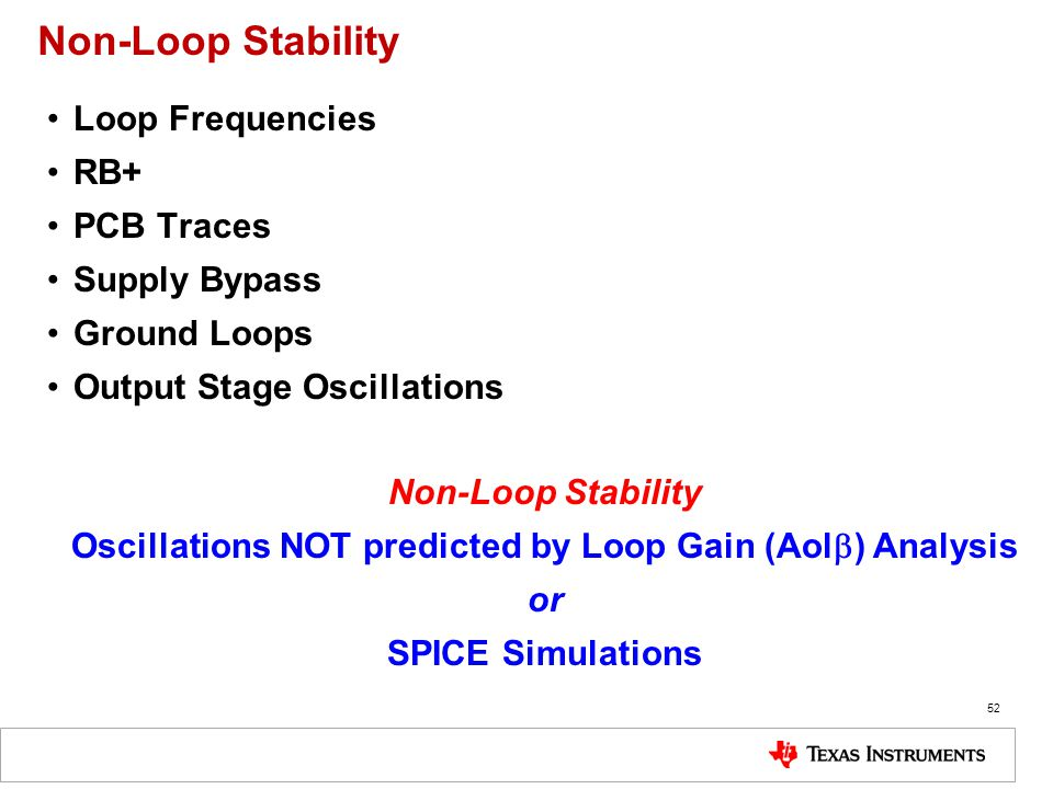 Oscillations NOT predicted by Loop Gain (Aolb) Analysis