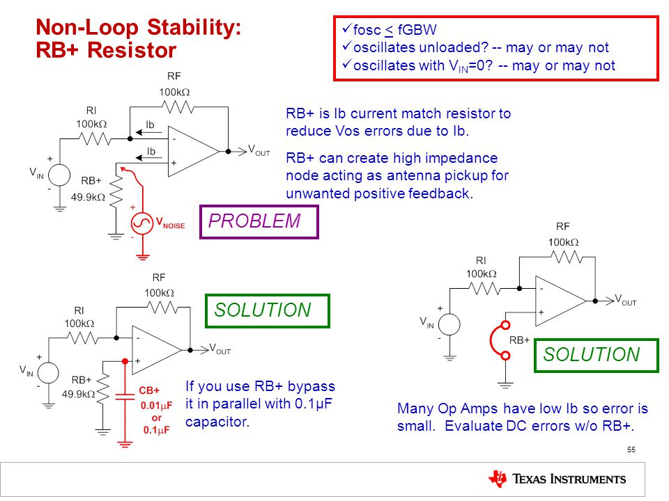 Non-Loop Stability: RB+ Resistor