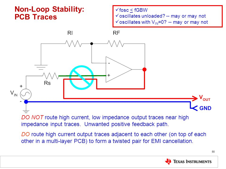 Non-Loop Stability: PCB Traces