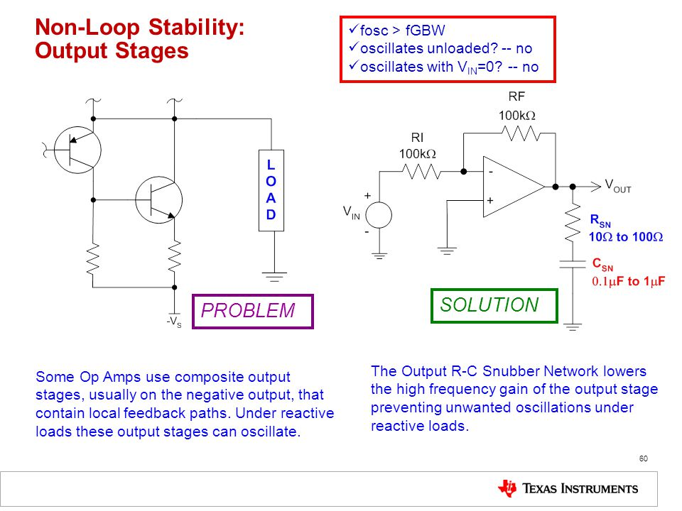 Non-Loop Stability: Output Stages