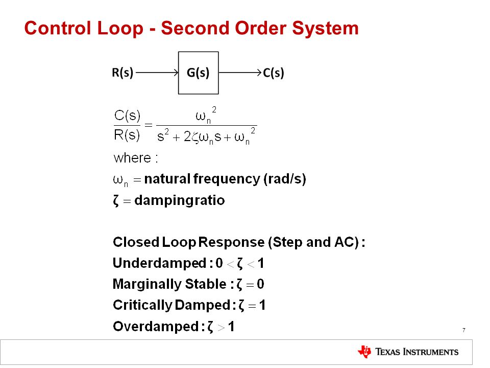 Control Loop - Second Order System
