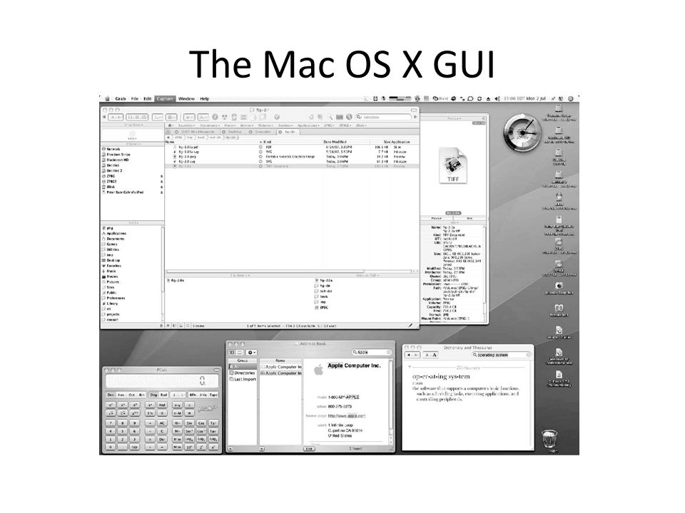 The Mac OS X GUI