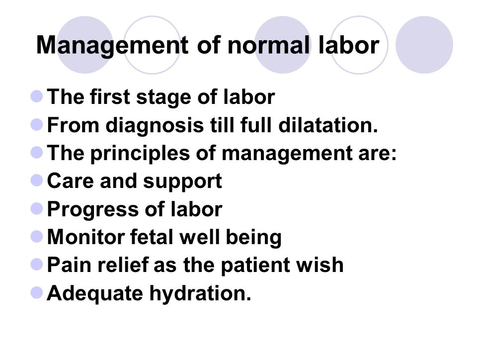 Management of normal labor