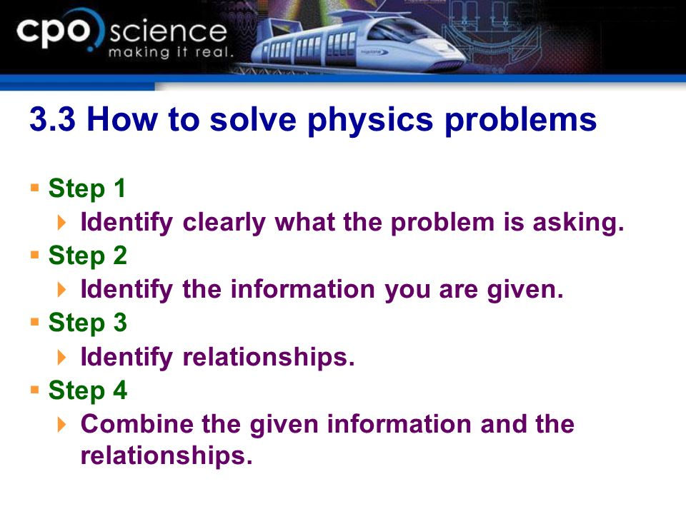 3.3 How to solve physics problems