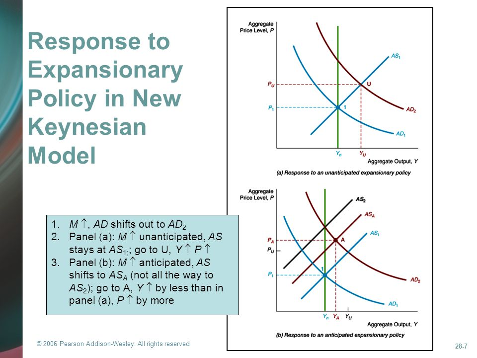 Response to Expansionary Policy in New Keynesian Model