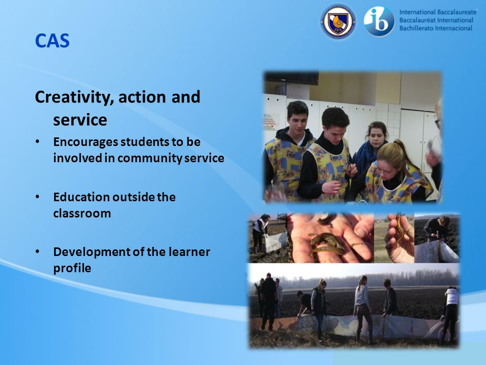 CAS Creativity, action and service