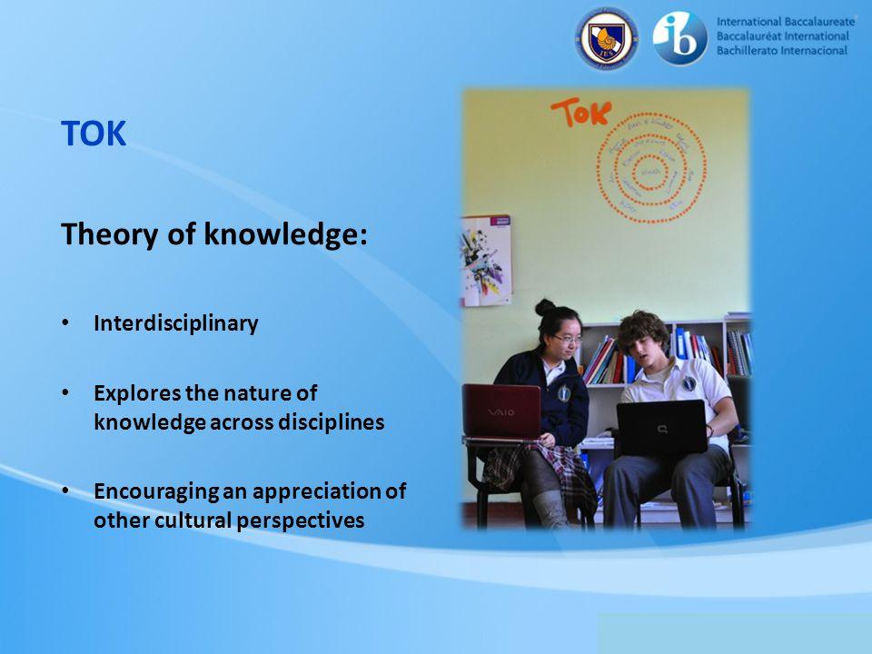 TOK Theory of knowledge: Interdisciplinary