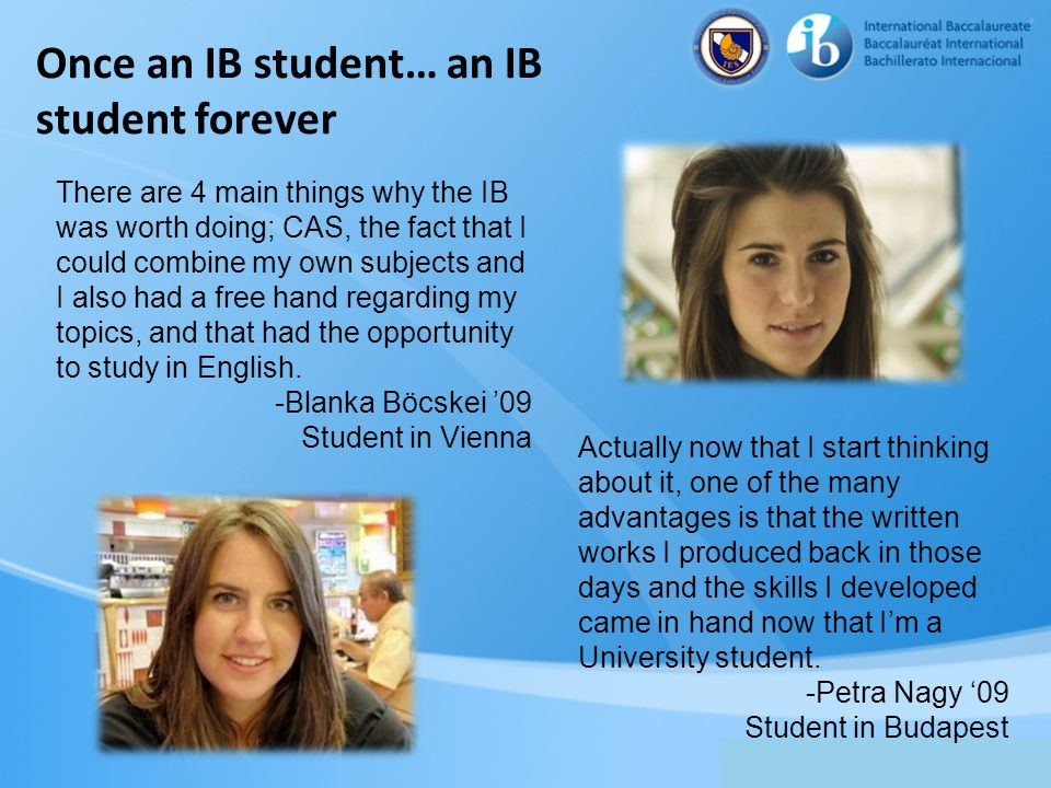 Once an IB student… an IB student forever
