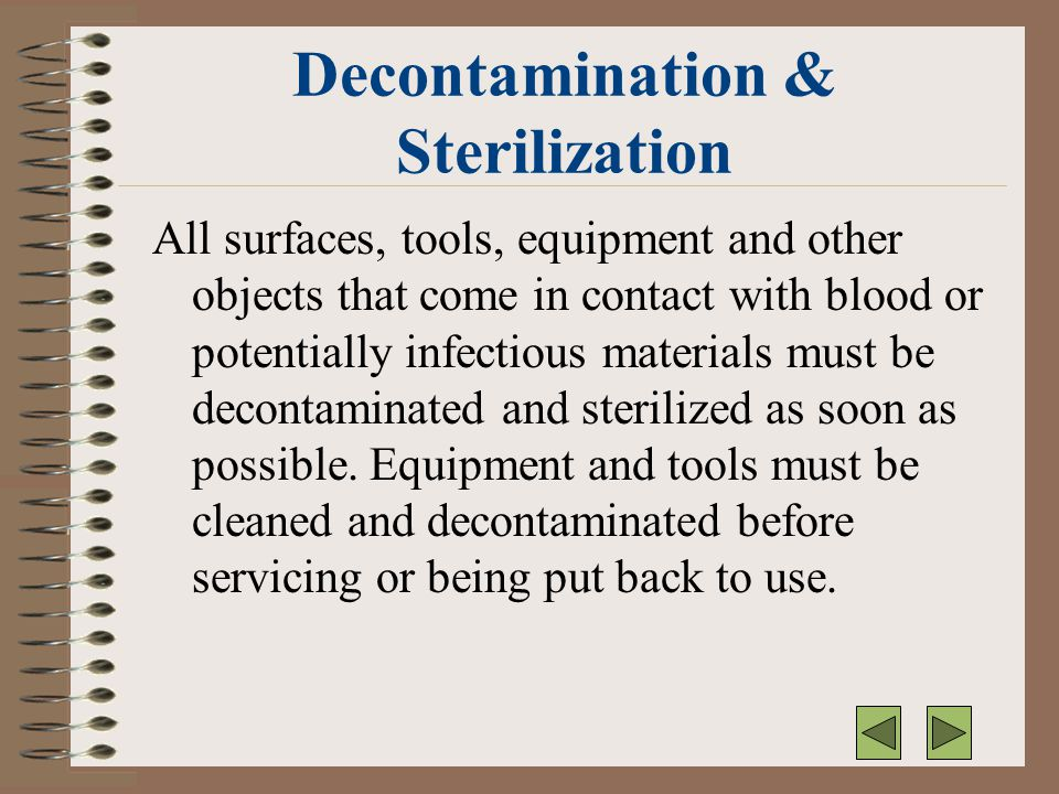 Decontamination & Sterilization