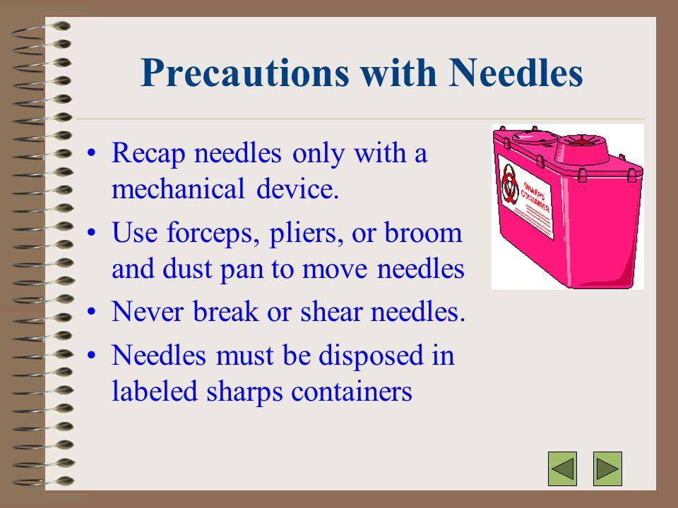 Precautions with Needles