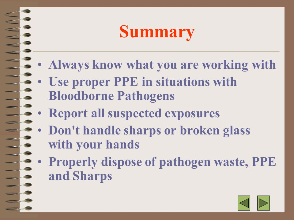 Summary Always know what you are working with
