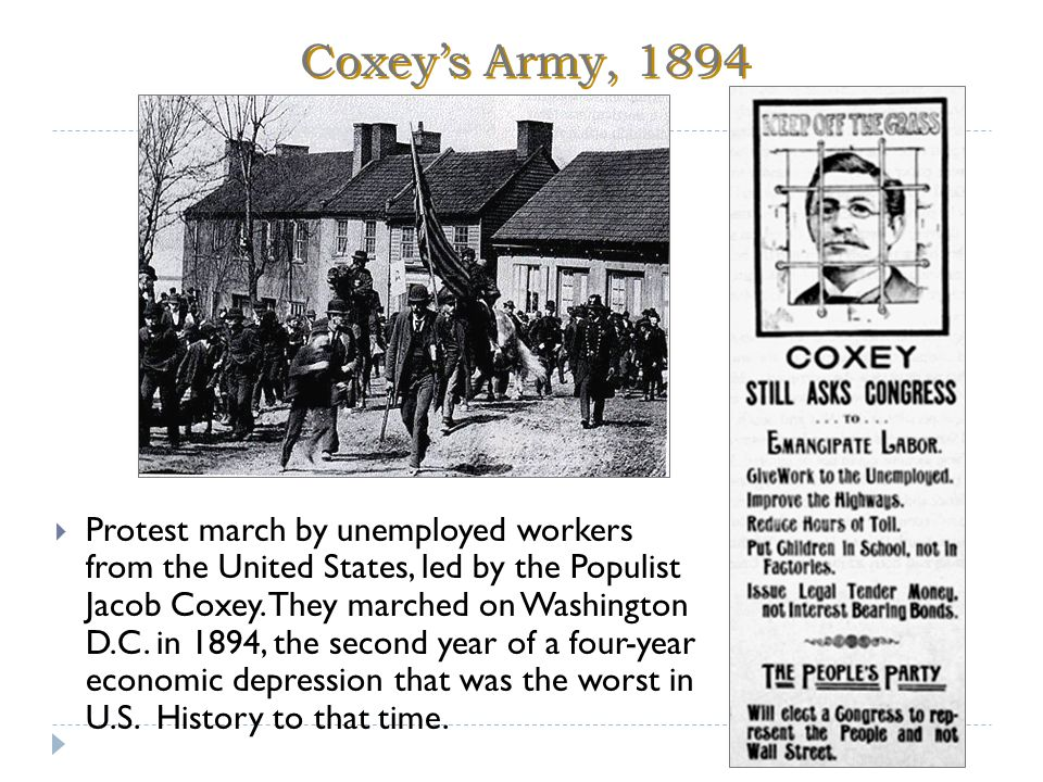 Coxey's Army, 1894