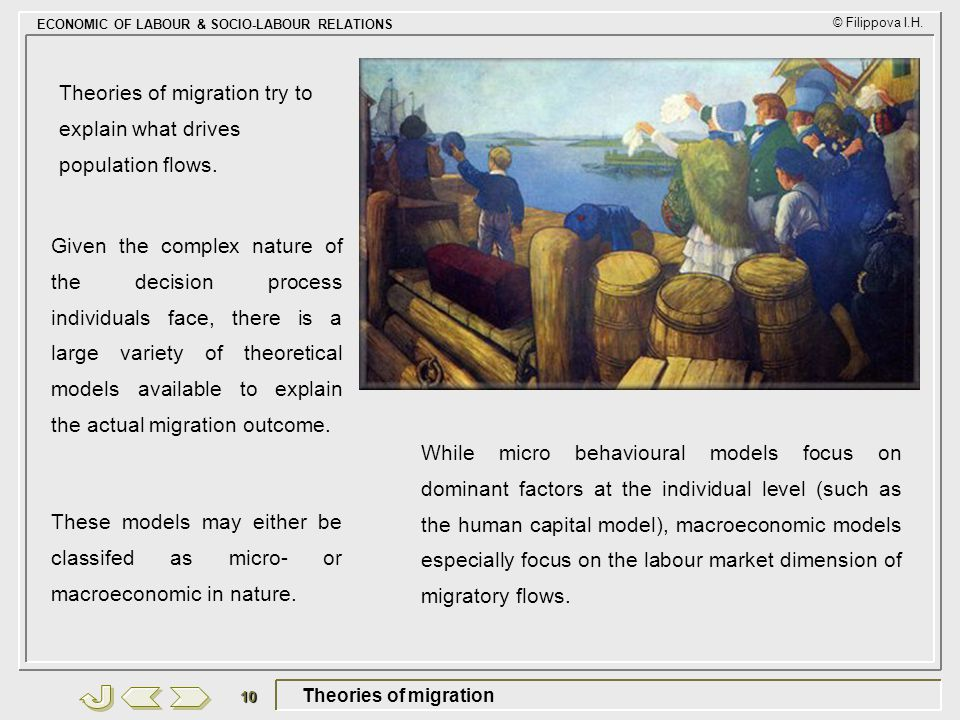 Theories of migration try to explain what drives population flows.