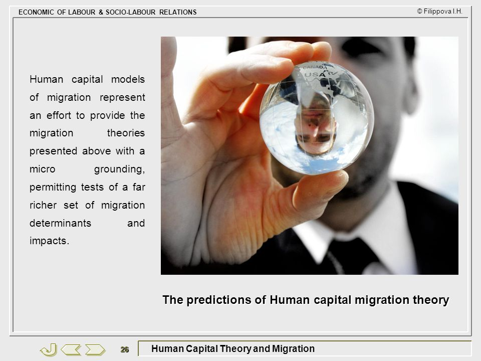 Human Capital Theory and Migration