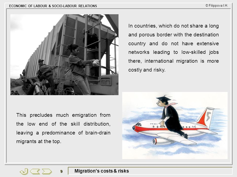 Migration s costs & risks
