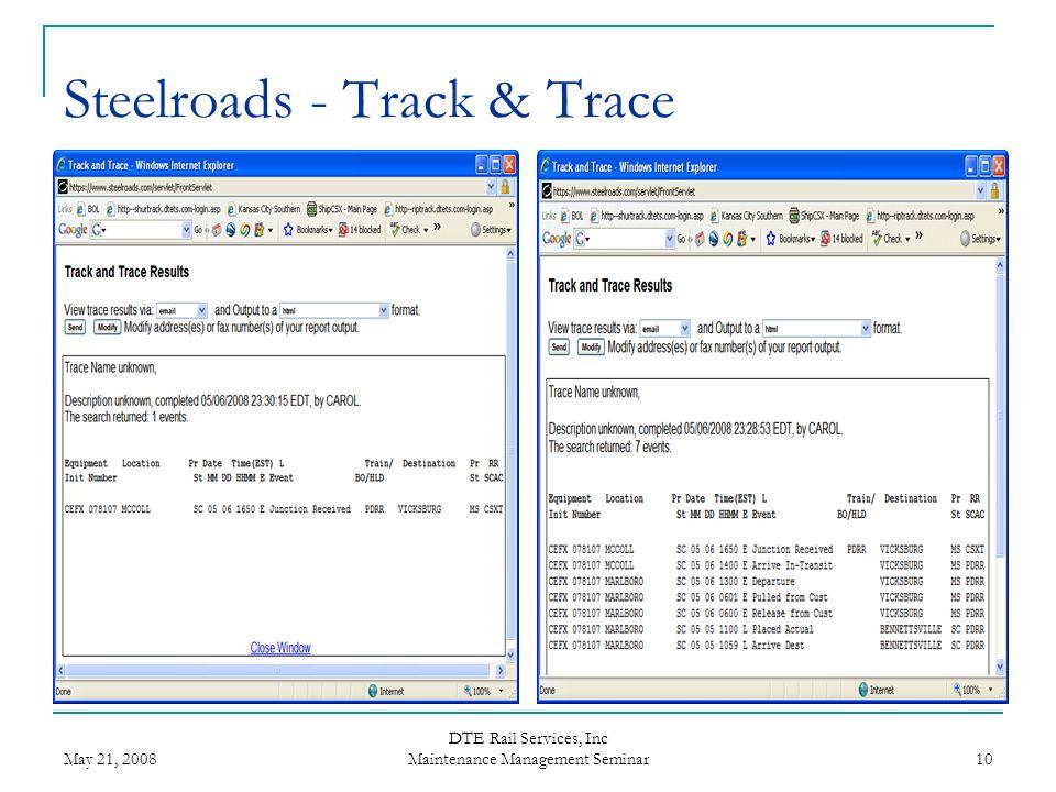 Steelroads - Track & Trace