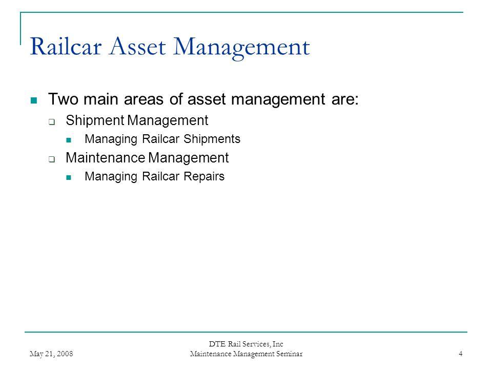 Railcar Asset Management