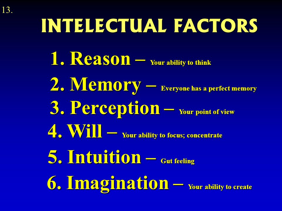 6. Imagination – Your ability to create