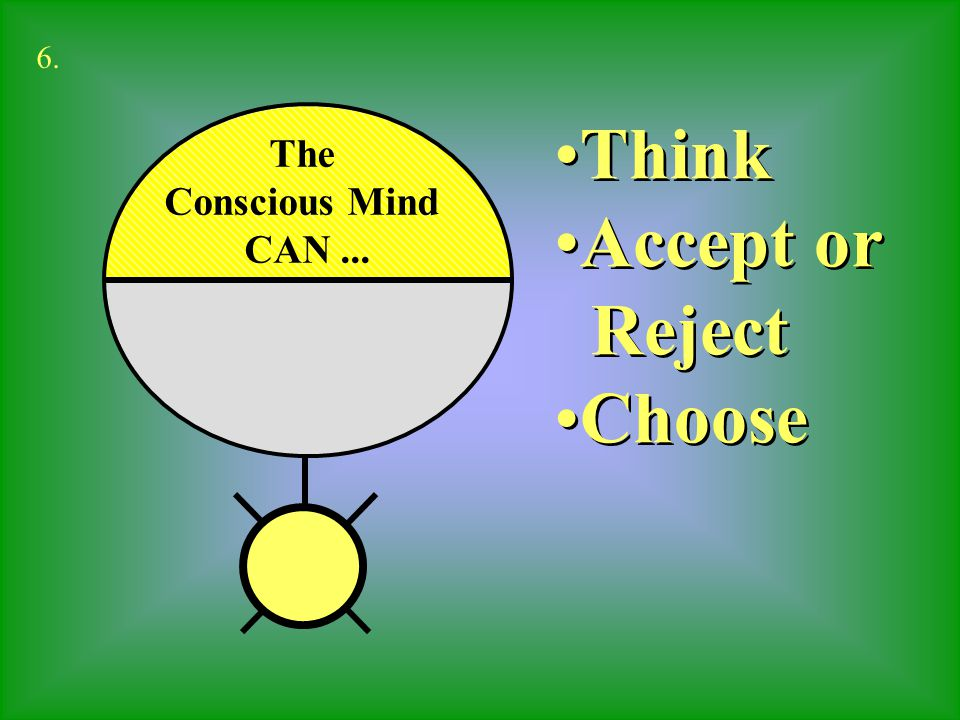 6. Think Accept or Reject Choose The Conscious Mind CAN ...