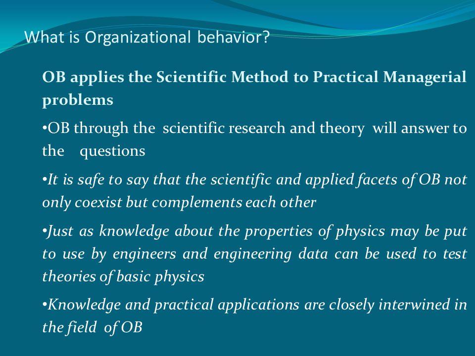 What is Organizational behavior