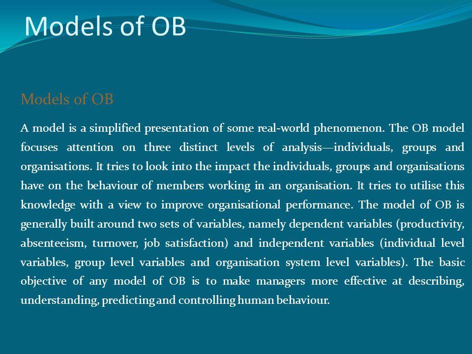 Models of OB Models of OB
