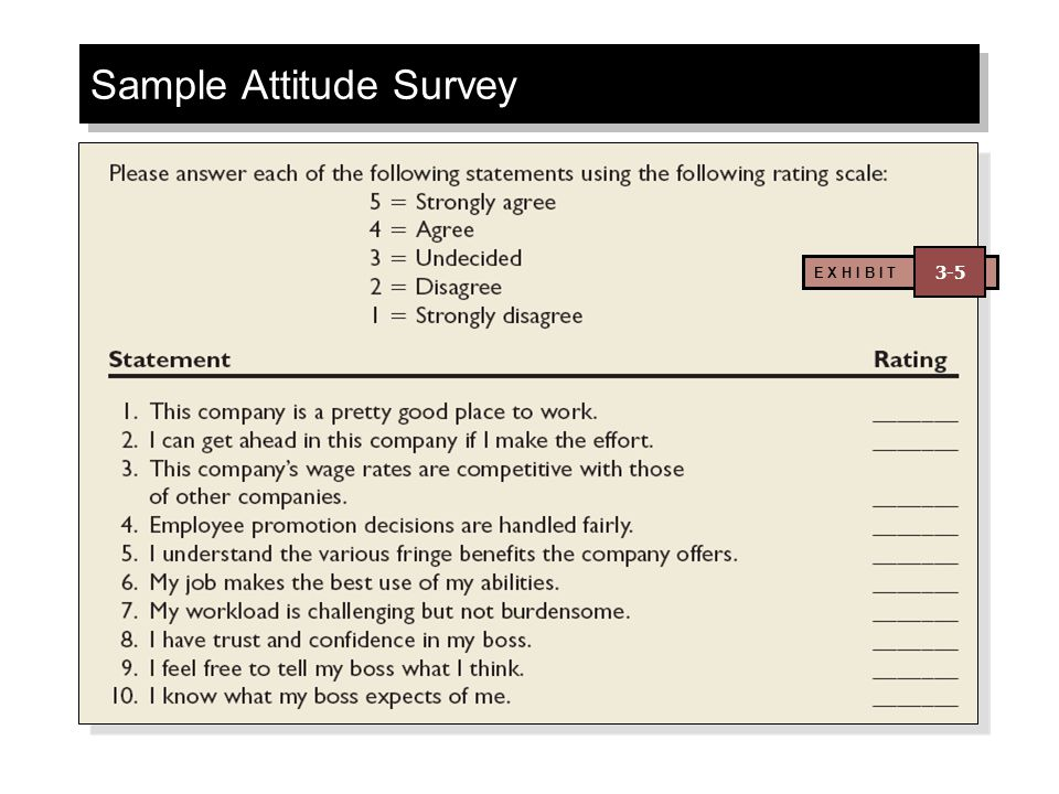 Sample Attitude Survey