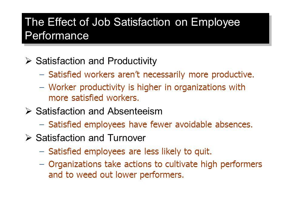 The Effect of Job Satisfaction on Employee Performance
